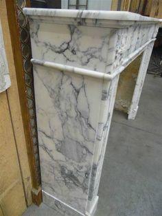 fireplace louis xvi white marble - Cheminées - Cheminées et décorations - Nord Antique