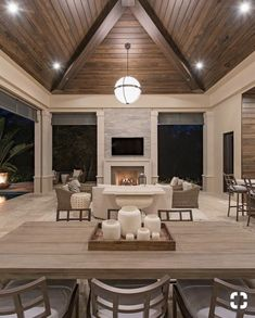 Modern home design – Home Decor Interior Designs Home Design, Interior Design Trends, Modern Design, Outdoor Living Rooms, Living Spaces, Modern Outdoor Living, Casa Kardashian, Adirondack Furniture, Outdoor Furniture