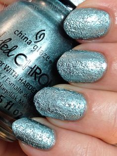 China Glaze Crinkled Chrome Don't Be Foiled @liesllovesprettythings