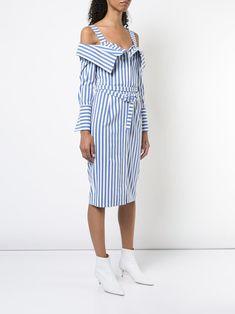 41a4da87afc Monse платье с поясом на талии со спущенными плечами