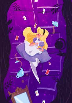 Alice in Wonderland, Samantha Germaine Sim Alice In Wonderland Fanart, Alice In Wonderland Paintings, Alice In Wonderland Illustrations, Wonderland Party, Alice In Wonderland Rabbit, Film Disney, Arte Disney, Disney Fan Art, Disney Love