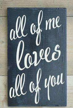 Chalkboard Wall Art Sign Couples Wedding Anniversary Gift Chalk Wood Wall Art Handmade All Of Me Loves All Of You Sign Print Master Bedroom Love Quotes Lyrics