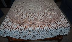 Vintage Tablecloth Round Peacock Crochet by CheekyVintageCloset, $28.00