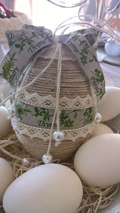 Le uova di Pasqua decorate info@anaphalis.it#easter-decoration#home