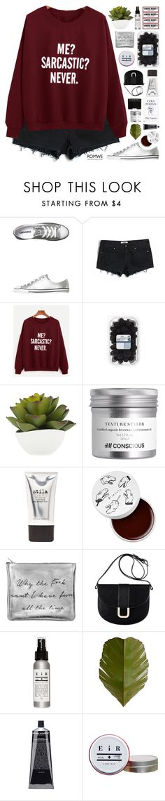"""""""Never"""" by fee4fashion ❤ liked on Polyvore featuring Converse, Victoria's Secret PINK, Stila, too cool for school, Sarah Baily, A.P.C., Varaluz and NARS Cosmetics"""
