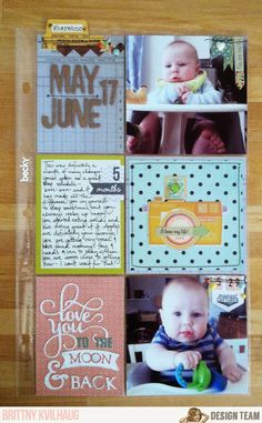 """June 17th Daily Diary Spread by Brittny Kvilhaug, using the NoelMignon Sweet & Simple """"Daily Diary"""" kit."""