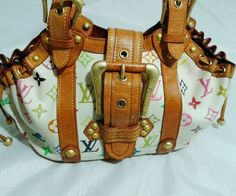 Distressed Authentic Louis Vuitton Theda, White Multicolored  Monogram. AS IS . #LouisVuitton #ShoulderBag