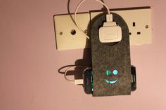 Cool Charger Holder Gadgets Cell iPhone wall charging station FELT docking by FeelMyCraft on Etsy