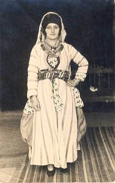 Turkish girl in traditional Costume, 1935.
