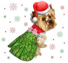 CHRISTMAS Dog Clothes SEWING PATTERN 1619 Emma Lee Dog Dress for the Little Dog by SofiandFriends on Etsy https://www.etsy.com/listing/169555270/christmas-dog-clothes-sewing-pattern
