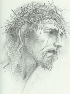 jesus crown thorns pencil drawing christ drawings face easy draw simple amazing bible przyjaciele maryi things paulos discover portrait paintingvalley