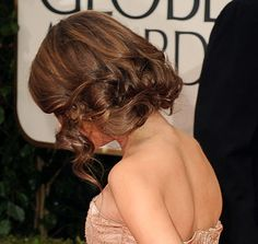 Sarah Hyland: In the back, her curls were gathered and tucked under for an easy, romantic look.
