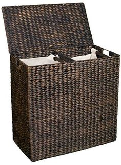 Shop for BirdRock Home Water Hyacinth Laundry Hamper Divided Interior (Espresso) | Eco-Friendly | Made of Hand Woven Hyacinth Fibers | Includes Two Removable Cotton Liners Bag | Wicker Laundry Basket with Lid at ShopStyle. Now for Sold Out.