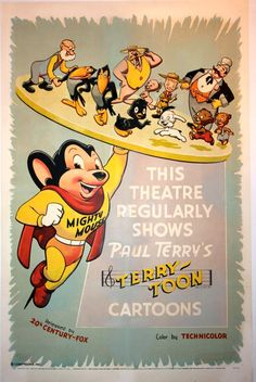 Mighty Mouse and the Terrytoons gang!