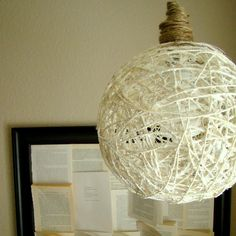 DIY Sisal Hanging Lamp (on Too Much Time)