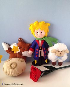 The Little Prince felt dolls on Etsy, $84.28
