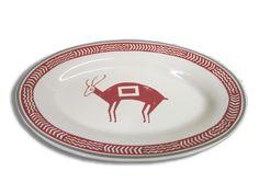 Red Mimbreno Deer Platter