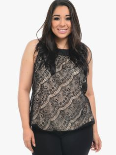 Black Blind Date Sleeveless Blouse | $10.00 | Cheap Trendy Blouses Chic Discount Fashion for Women