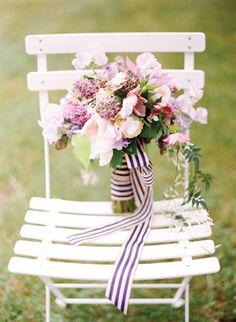 striped bouquet ribbon | Eric Kelley #wedding