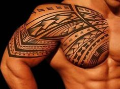 tribal tattoos 2016 for men with pointy patterns