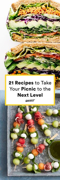 These portable bites make picnicking a cinch. #healthy #picnic #recipes https://greatist.com/health/healthier-picnic-recipes