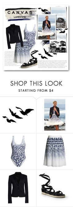 """""""Paint Your Look With Canvas by Lands' End: Contest Entry"""" by lalalaballa22 on Polyvore featuring Lands' End and Canvas by Lands' End"""