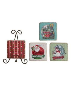 Another great find on #zulily! Holiday Easel Coaster Set #zulilyfinds