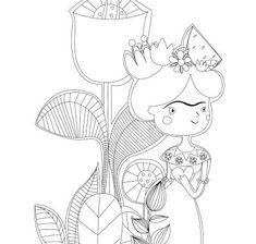 desenhos de frida kahlo para pintar Mandala, Calathea, Canvas Ideas, Patch, Coloring Pages, Stencils, Bottles, Faces, Textiles