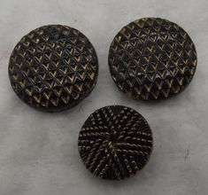 Black And Beige Glass Buttons Collectible Buttons Matching Button Clothing Buttons Lot Of 21 Antique Buttons Antique Glass Buttons