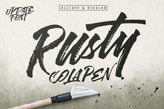 Rusty Cola Pen (Update) by maghrib on @creativemarket
