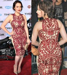Kat Dennings Is a Sultry Vixen in Naeem Khan and Jimmy Choo Kat Dennings Pics, Kat Dennings Thor, Celebrity Outfits, Celebrity Style, Beautiful Celebrities, Beautiful People, Kat Dennigs, Two Broke Girl, Max Black