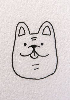 20 Easy Dog Drawing Ideas Simple Cat Drawing, Very Easy Drawing, Drawing Ideas, Easy Animal Drawings, Realistic Drawings, Easy Drawings, Chibi Dog, Corgi Drawing, Jumping Dog