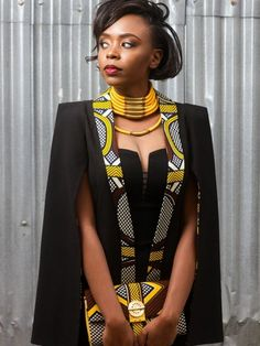 From Cape Dress To Cloak Dress; A Fashion That Will Rock African Fashion Lovers In 2016 - Women's style: Patterns of sustainability African Inspired Fashion, African Print Fashion, Africa Fashion, Fashion Prints, African Print Dresses, African Fashion Dresses, African Wear, African Prints, African Style