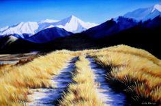 Artwork by Linda Hannan - SAW artist NZ Art Show 2013 Artist Wall, Nz Art, Artists, Mountains, Artwork, Nature, Work Of Art, Naturaleza, Auguste Rodin Artwork