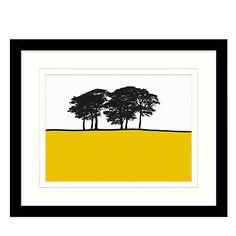 Buy Jacky Al-Samarraie - Skipton Yellow, Framed Print, 44 x 54cm Online at johnlewis.com