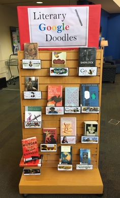 Here are some of the best authors and illustrators that have been honored with their own Google Doodle! Library Games, Library Boards, Library Ideas, Middle School Libraries, Middle School Reading, Public Libraries, Teen Library Displays, Library Signage, Future Library
