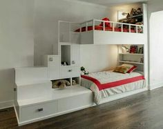 I really like this bunk bed concept.  I think my 7 year old would too