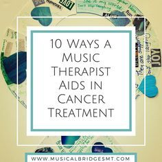 Music therapists can be very useful in cancer treatment and are beginning to be seen more and more in the hospital setting. There are a variety of interventions and treatment strategies the music t…