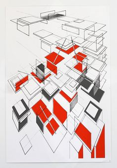 Architectural drawing by Ben Kafton #geometry
