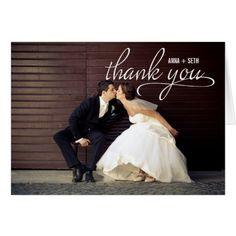 Elengant Wedding Thank You Cards HANDWRITTEN Wedding Thank You Photo Card