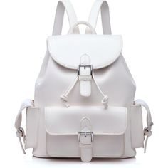 MI VIDA LOCA WHITE BACKPACK (€30) ❤ liked on Polyvore featuring bags, backpacks, knapsack bags, rucksack bag, white backpack, white bags and backpacks bags