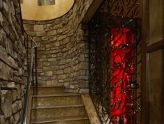 Custom stair case at Casa Cielo in Colorado Springs.  We worked on this home with Tara Custom Homes. #USFloorsDirect #Amazing