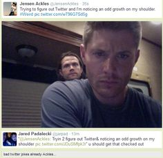 Supernatural tweets: and Jared responds to Jensen's tweet ;)