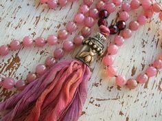 Long tassel necklace with a soldered tassel cap.  3DivasStudio jewelry