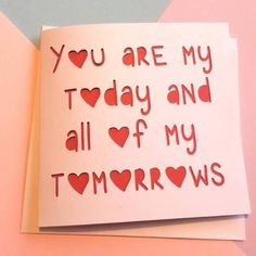Image Result For Romantic Handmade Birthday Cards Husband Valentines Card
