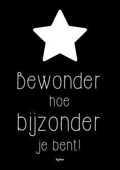 A4 POSTER, Bewonder hoe bijzonder je bent! Je shopt 'm hier: http://www.bybean.nl/posterbewonderhoebijzonderjebent