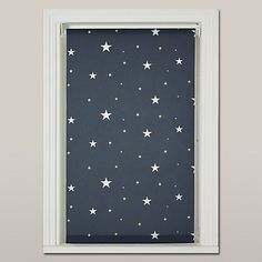 John Lewis Starry Night Blackout Roller Blind. Blackout blinds are essential for all windows in the nursery.