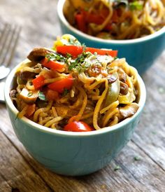 """If you like hot and spicy dishes, this one's for you. This Cajun """"pasta"""" features a colorful variety of vegetables sauteed with an easy homemade Cajun seasoning to create a comforting noodle-like dish. Because this recipe calls for zucchini noodles (a.k.a. """"zoodles"""") instead of grain-based noodles, it's lower in carbs and calories than an average...Read More »"""