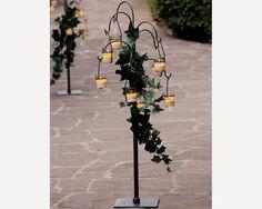 candelabro con velas y flores - Buscar con Google