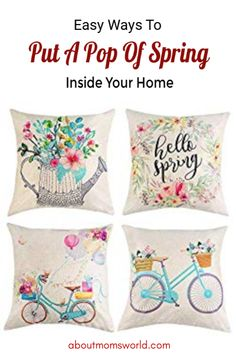 These are easy ways to put a pop of spring inside your home. Check out the home decors that you might want to change right now to get that spring vibes. Spring Is Here, Mom Blogs, Tapestry, Change, Money, Pop, My Favorite Things, Simple, Check